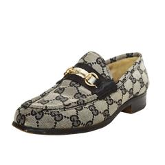 Gucci Blue Monogram Loafers sz 6