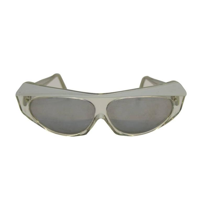 1980's Alain Mikli Clear Sunglasses  For Sale