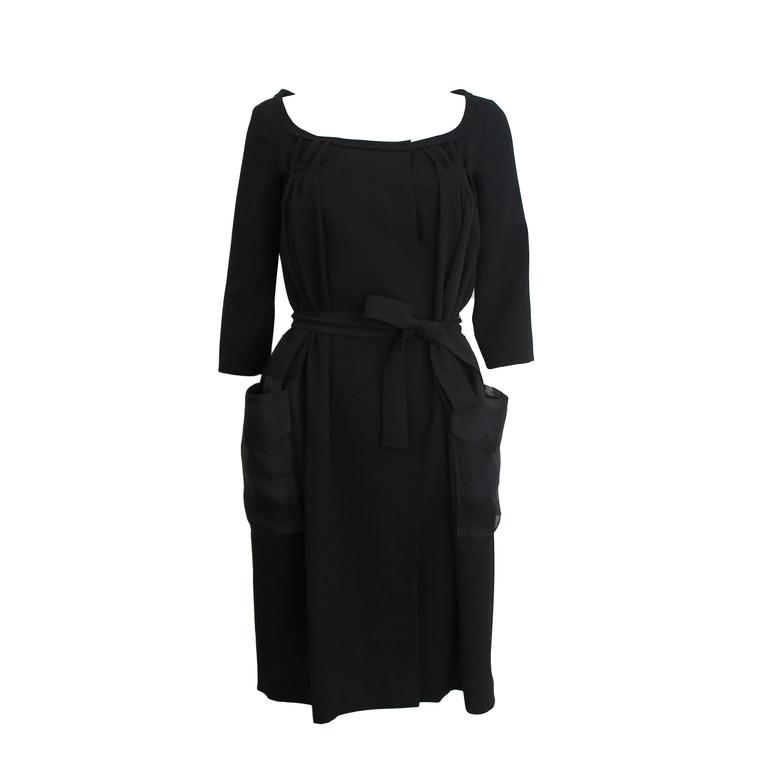 Christian Dior Black Dress with Sheer Pockets 1