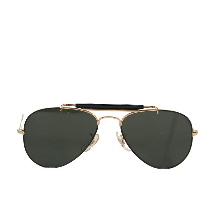 RAY BAN B&L Black and Gold small OUTDOORSMAN AVIATOR ...