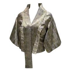 Alexander McQueen Brocade Kimono Jacket & Bustier 2003