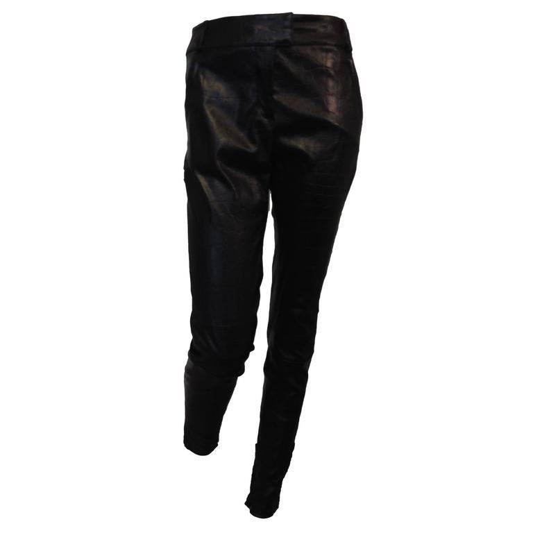 Givenchy Black Leather Pants Size 38 (6) 1