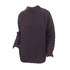 Aubergine cashmere basket weave The Row sweater    Size S
