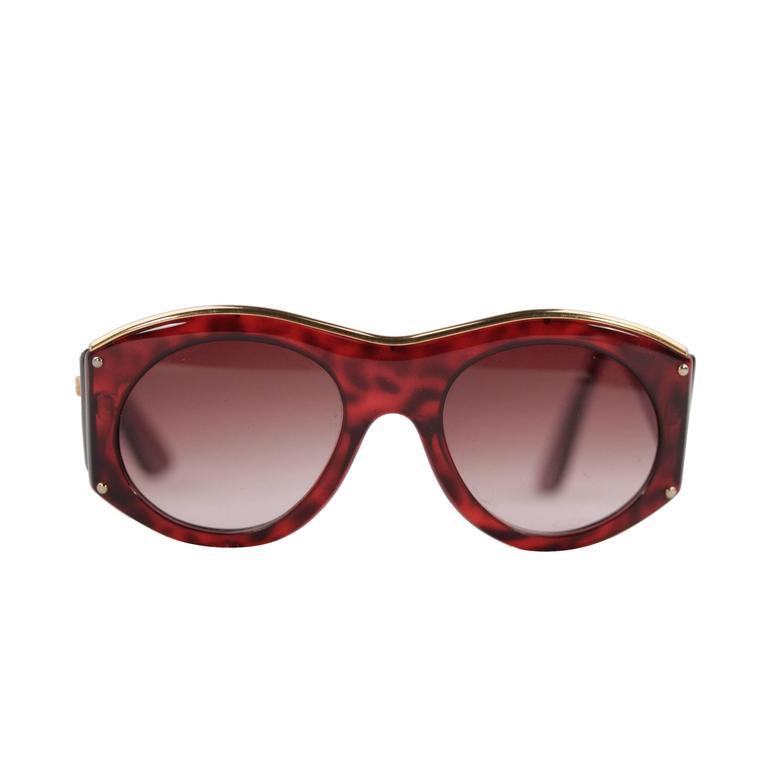 christian lacroix vintage tortoise sunglasses 7316 30 53