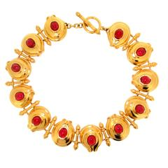 1980s Fendi Gold Necklace