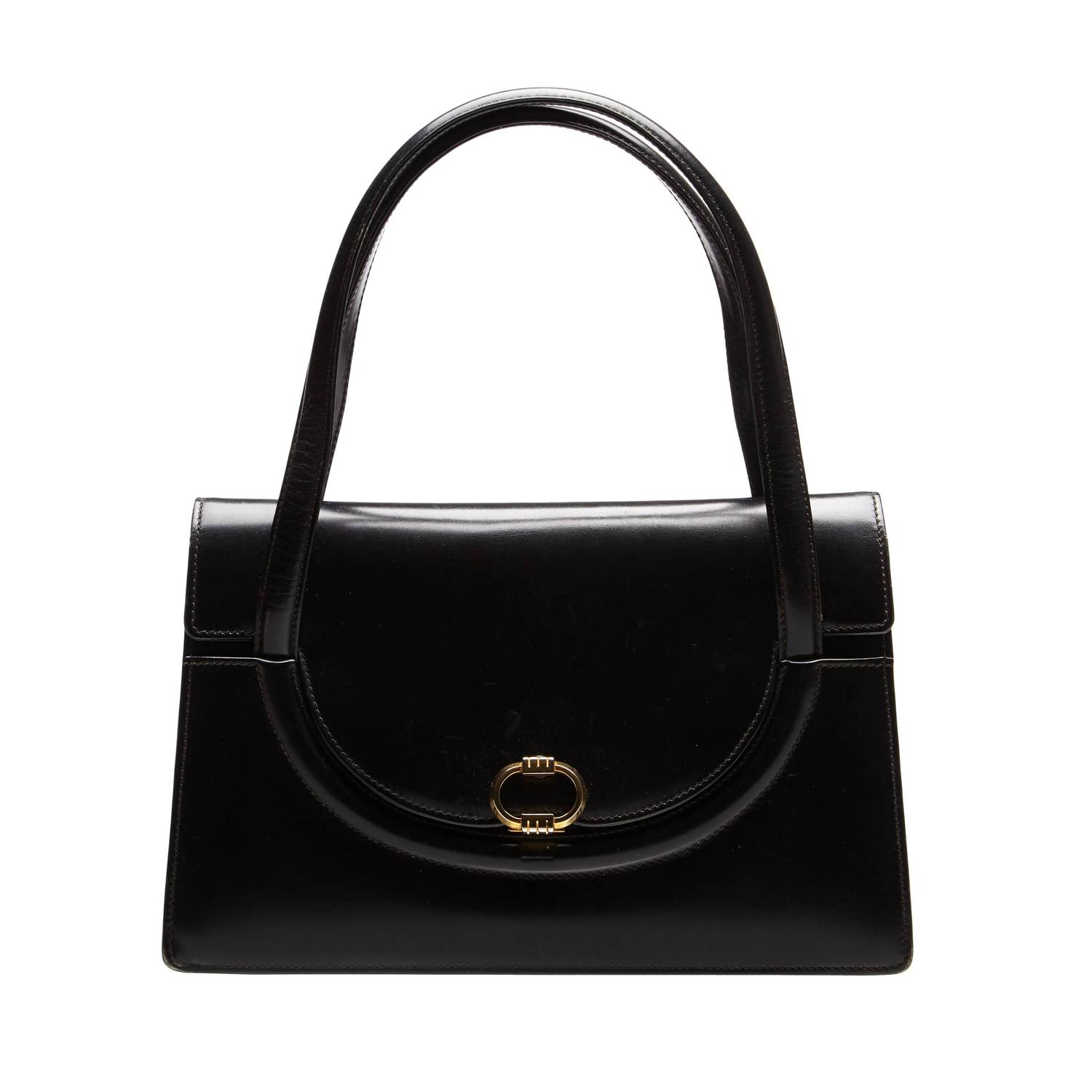 1960s black leather gucci bag at 1stdibs