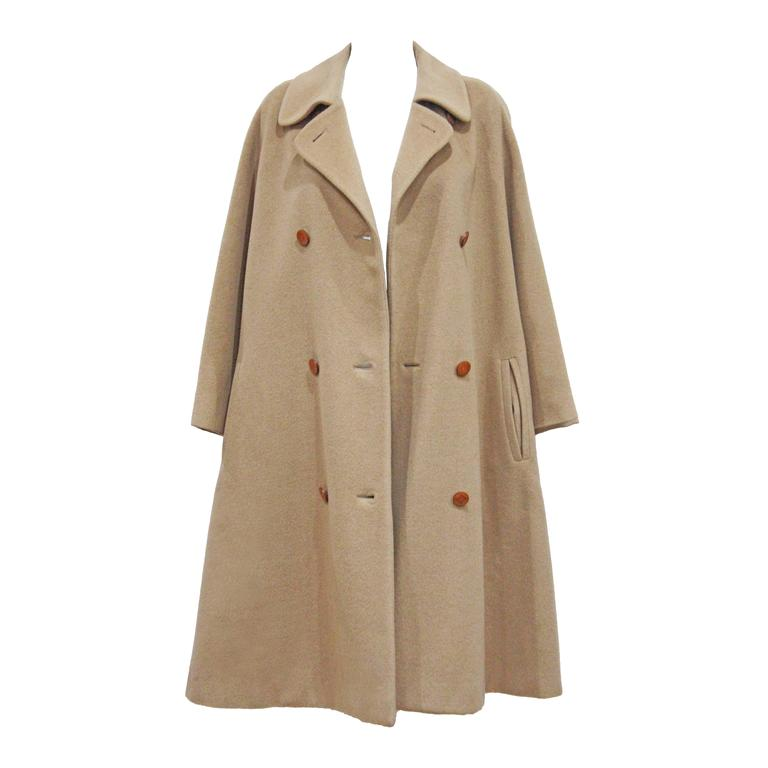 1970s Hermes Camel Hair Swing Coat  1