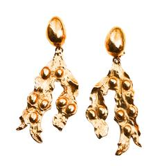 Oversized Yves Saint Laurent Abstract Earrings