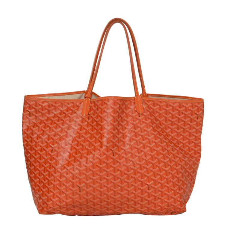 goyard orange chevron print st  louis gm tote bag at 1stdibs