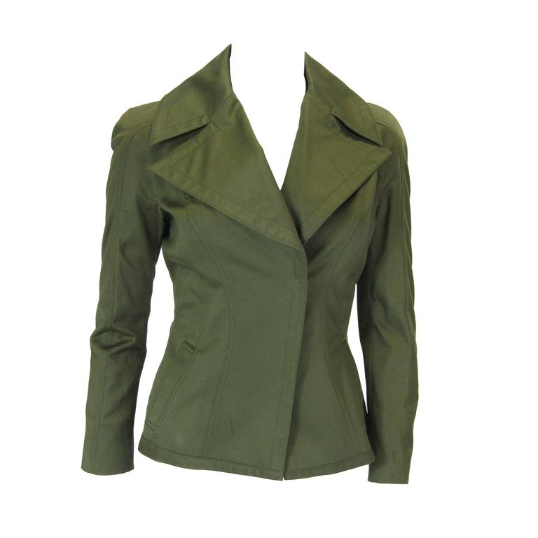 Tom Ford Olive Green Fitted Jacket