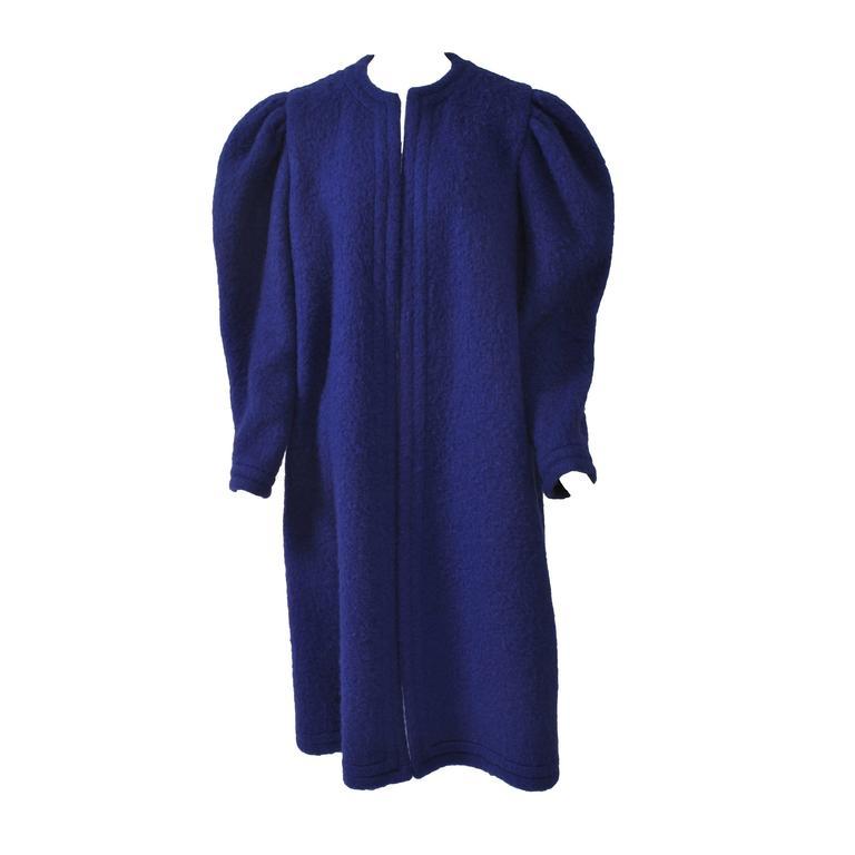 Lanvin 1980s Mohair Coat