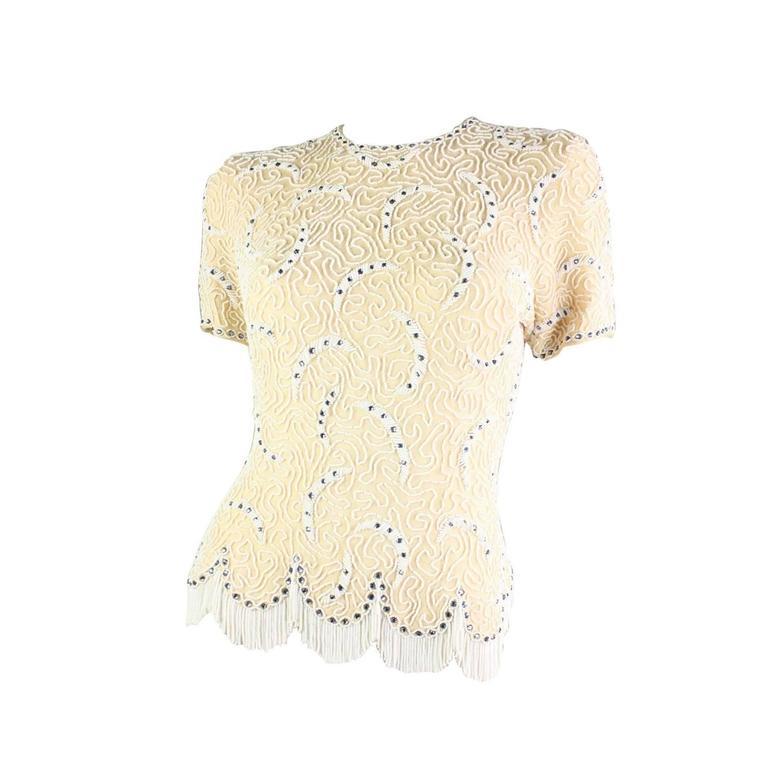 1950's Elsie Tu Beaded Sweater 1