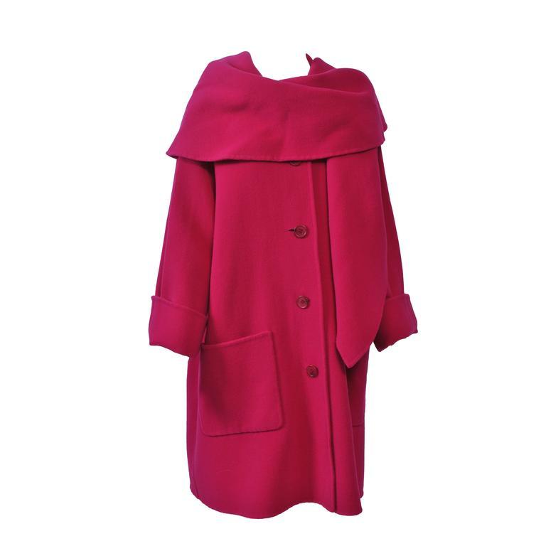 1980s Fuchsia Swing Coat