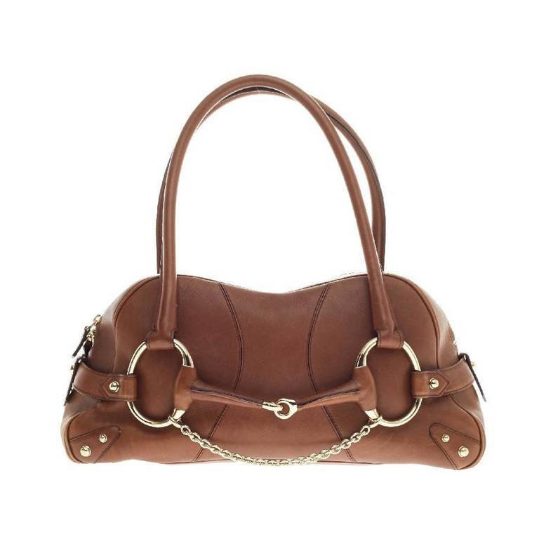 de48128e25e33b Gucci Horsebit Chain Shoulder Bag Leather at 1stdibs