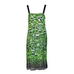 Proenza Schouler Green Sequin Camo Dress