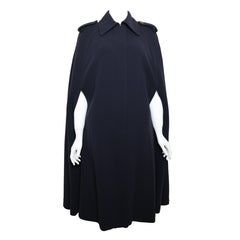 Vintage Fall 1996 Gucci by Tom Ford  Navy Wool Long Cape Coat
