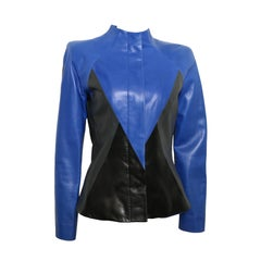 Givenchy Haute Couture Colour Blocked Geometric Leather Jacket