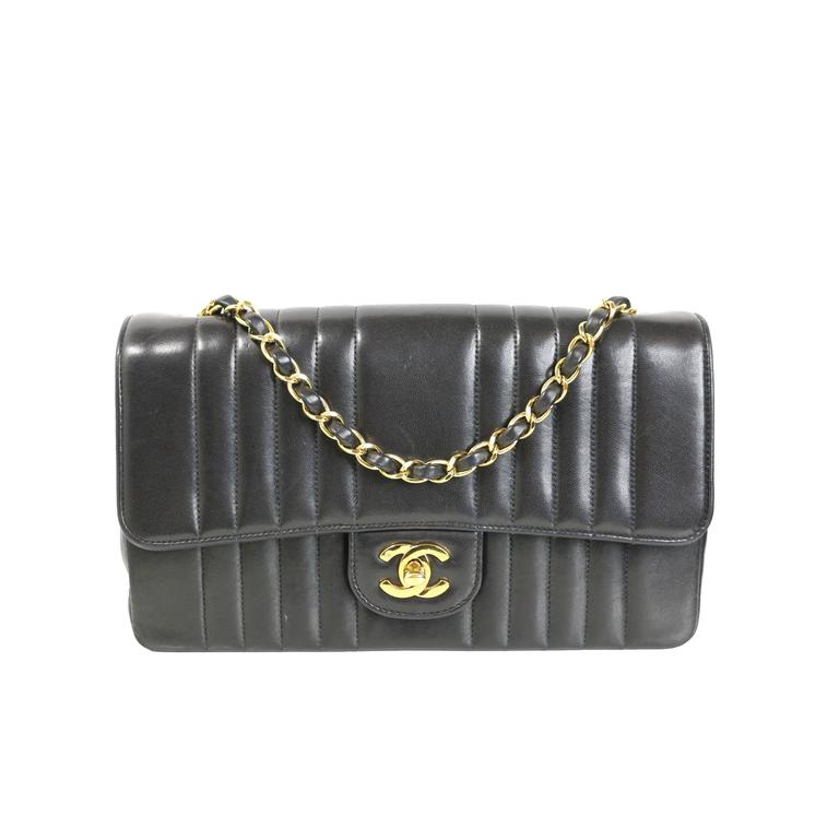 28472ee95b55 Chanel Vertical Quilted Lambskin Leather Small Flap Bag at 1stdibs
