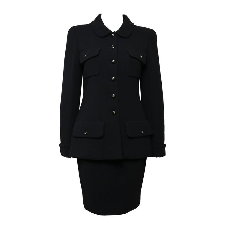 Chanel Black Wool Suit 1