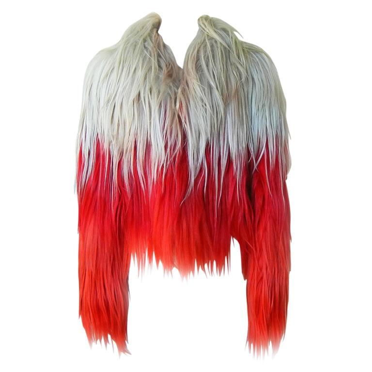 NWT $18K Tom Ford Ad Campaign Bergdorf Red Ombre Fur Store Sellout Jacket For Sale