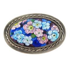 Camille faure limoges france enamel floral brooch pin for Garage faurie limoges