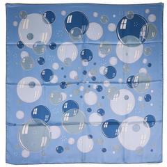 Beautiful Hermes Bubbles Silk Scarf