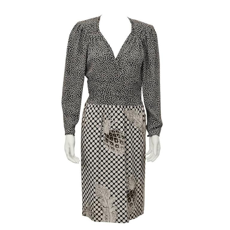 1980's Ungaro Pineapple Print Silk Dress