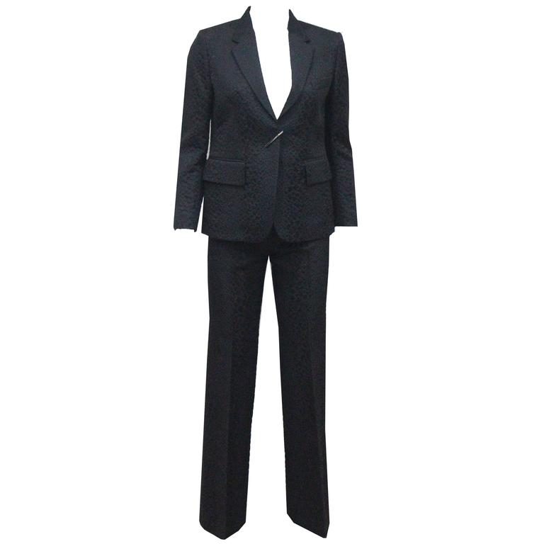 Tom Ford for Gucci Croc Embossed Jacquard Flared Pant Suit, SS 2000