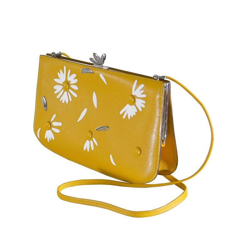Rare Whimsical Hermes Sac A Malice Bag Of Tricks Daisy Handbag For