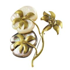 Fabrice Paris Floral Brooch Pin