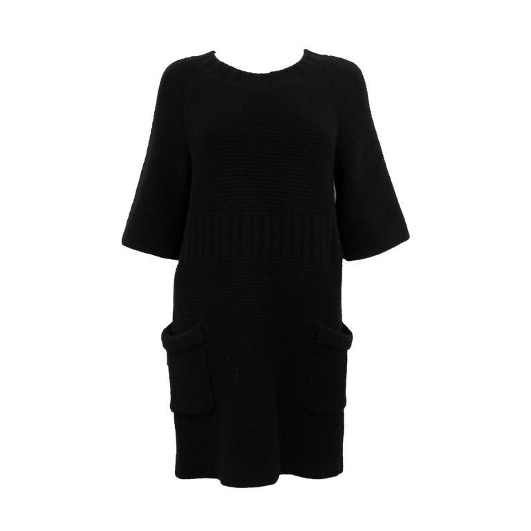 Chanel AW 2006 Black Angora Knit Dress 1
