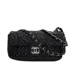 "Chanel New Design ""Classic "" Quilted Black Patent Leather .Circa:2009"
