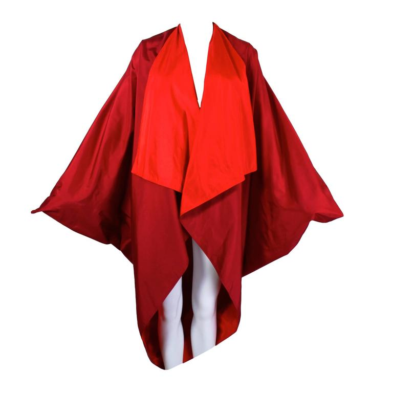 1980s Reversible Colorblock Cocoon Cape 1