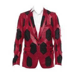 Comme des Garcons 2015 Mens Cut Out Red Jacket