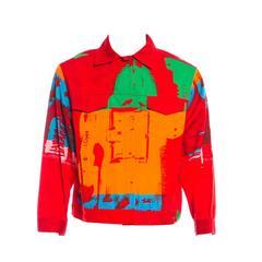 Stephen Sprouse Mens Andy Warhol Denim Jacket