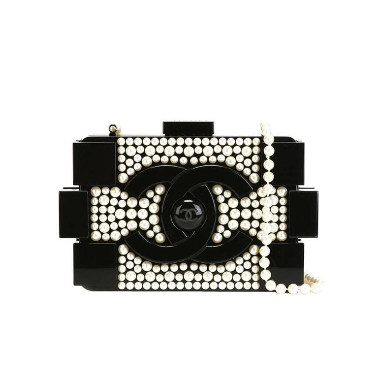 Chanel Vintage Lego Brick Pearl Clutch For Sale