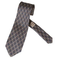 Vintage Silk Hermes H Tie