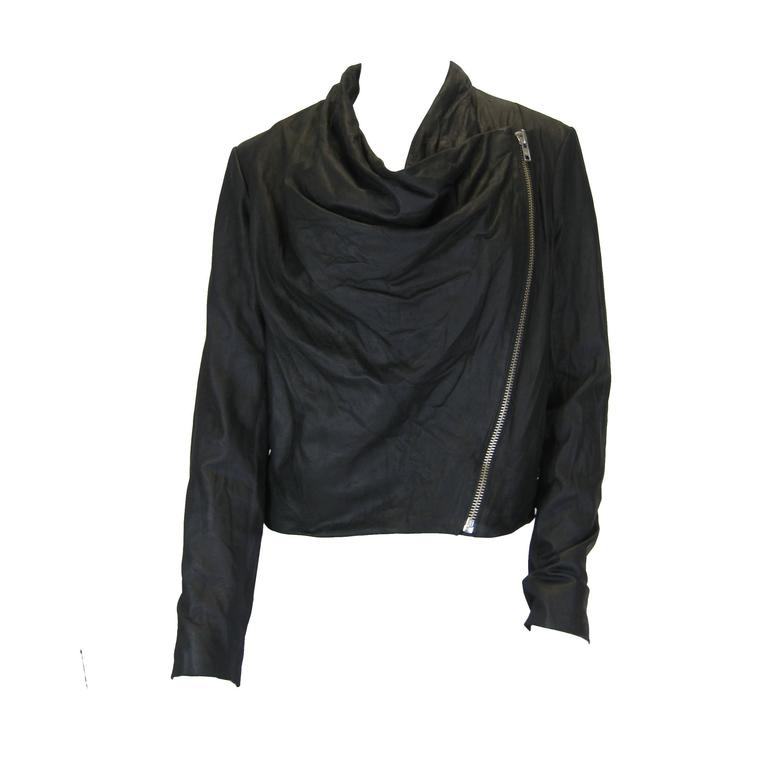 Helmut Lang Black Lambskin Leather Jacket