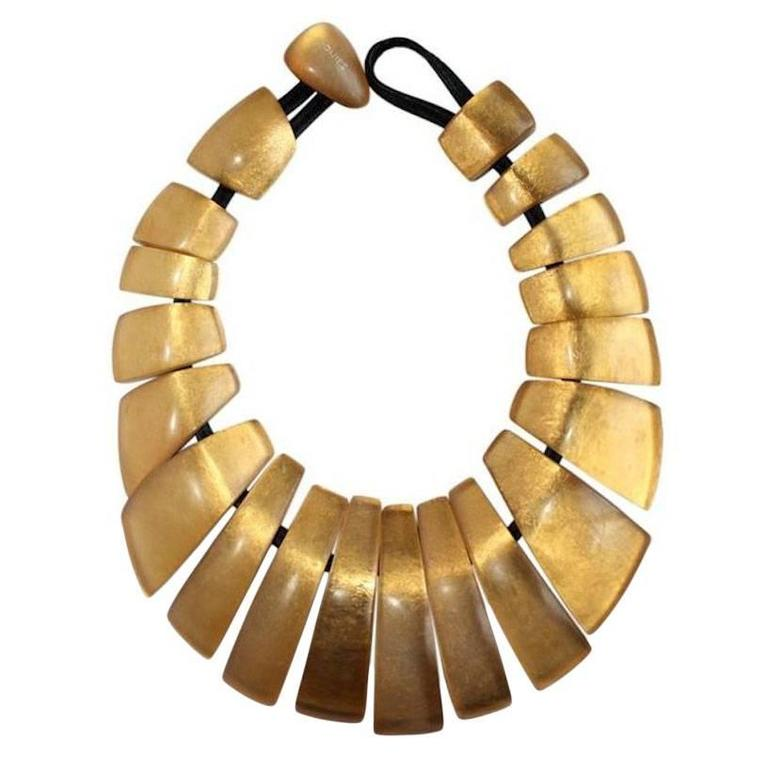 Monies Gold Leaf Statement Necklace 1