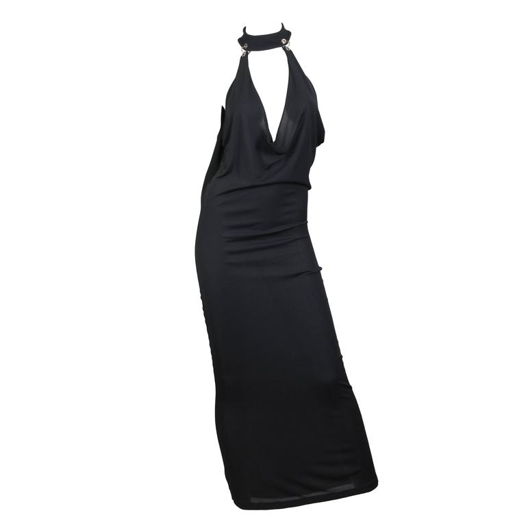 Paco Rabanne Jersey Halter Dress 1