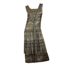 1920s Lamé Dress with Sanskirt
