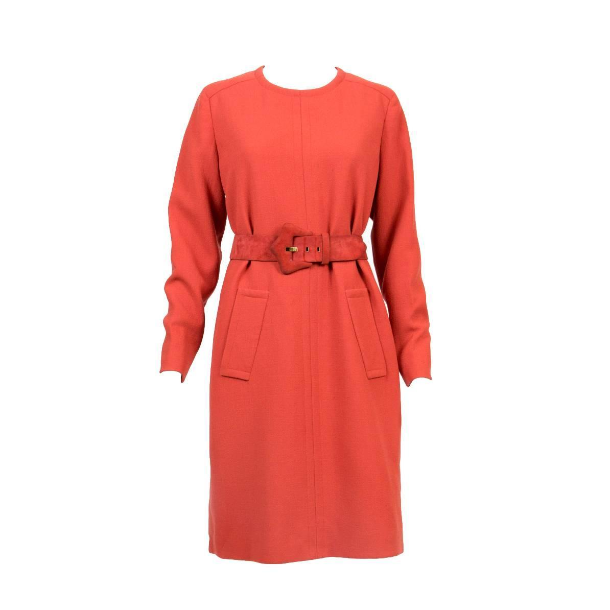 1960s givenchy haute couture numbered rust dress for sale for 1960 s haute couture