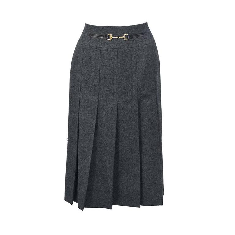 1970 s grey pleated skirt for sale at 1stdibs
