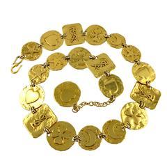 Yves Saint Laurent YSL Vintage Belt and Necklace