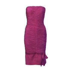 1990's Versace Magenta Wiggle Dress