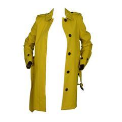 Burberry Mustard Yellow Trench Coat sz 4