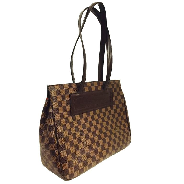 Louis Vuitton Damier Ebene Canvas Parioli PM Shoulder Bag at 1stdibs bc6a60cda03fa