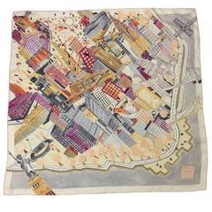 Asprey London NYC Print Silk Scarf