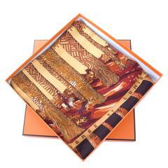 "Hermes Cashmere Silk Scarf ""Ombres Et Lumieres"" XL size"