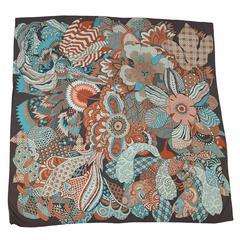 """2011 Hermes  """"Fleurs D'Indiennes"""" silk scarf"""